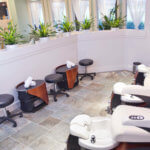 Pedicure area on the main floor.