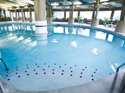 Indoor pool and hot tub Big Timber Indoor Pool Hot Tub The Seashore Inn Swimming Pools Lake Lawn Resort