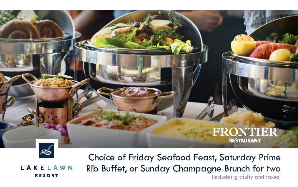 Choice of Friday Seafood Feast, Saturday Prime Rib Buffet, or Sunday Champagne Brunch for Two