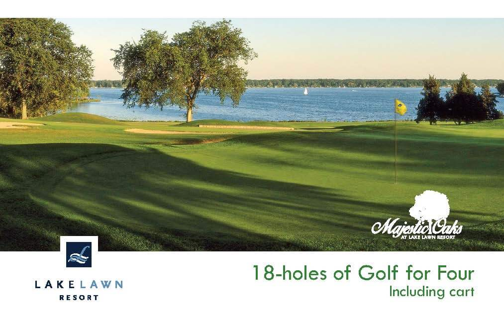 Majestic Oaks Golf Course 18 - Holes of Golf for Four