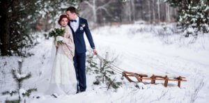 Wedding photos winter