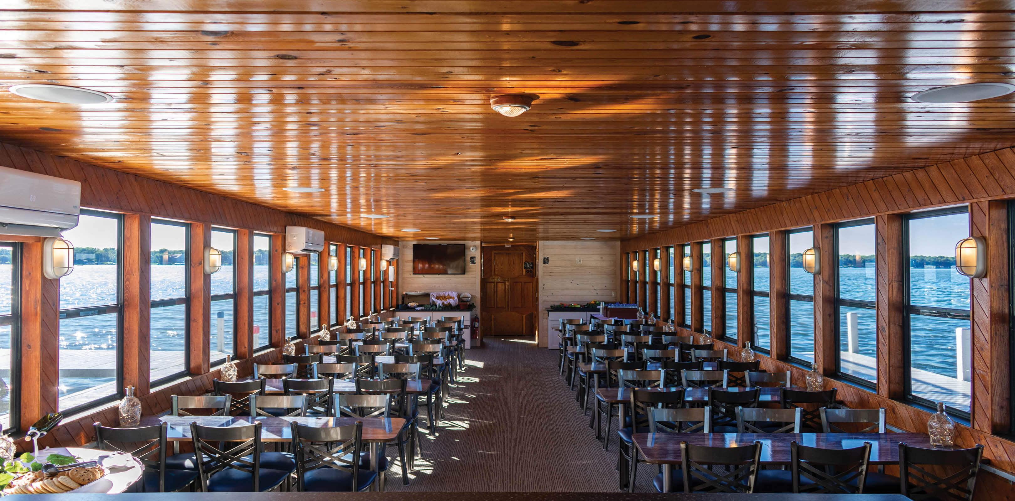 Lake Lawn Queen Tour Boat on Delavan Lake
