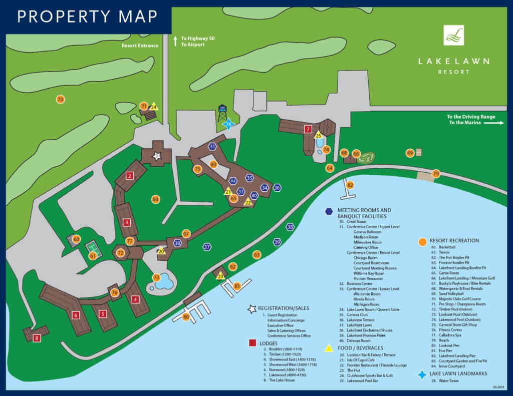 Lake Lawn Resort Property Map